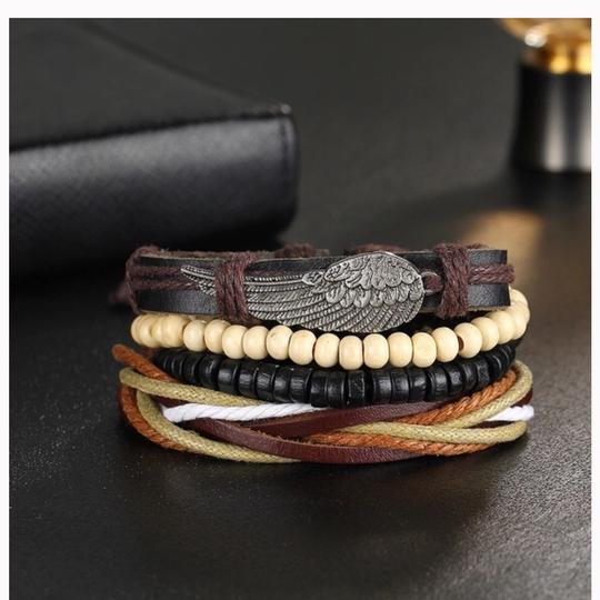 Queen Esther Etc 4 pcs Multilayer Leather Bracelets Sets Image 2