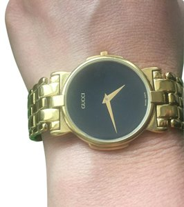 e51fed7379b Gucci Gold Hardware Black Face Vintage Watch - Tradesy