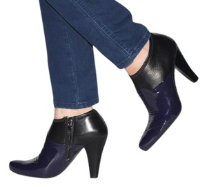 Prada Patent Leather Ankle Black Boots