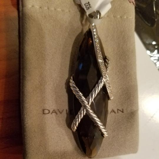 David Yurman David Yurman Smoky Quartz Diamond XL Cable Wrap pendant Image 1