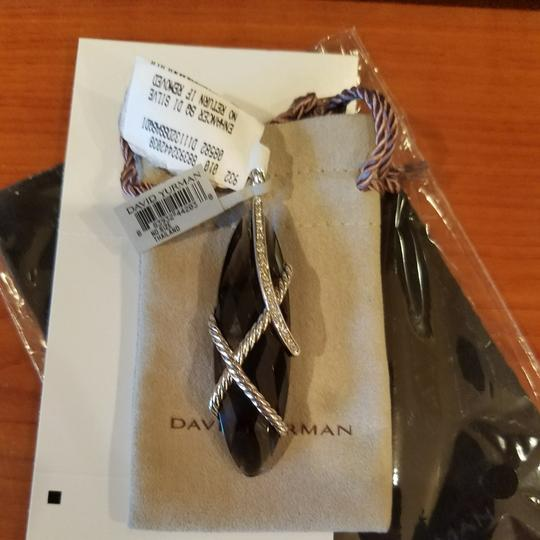 David Yurman David Yurman Smoky Quartz Diamond XL Cable Wrap pendant Image 2