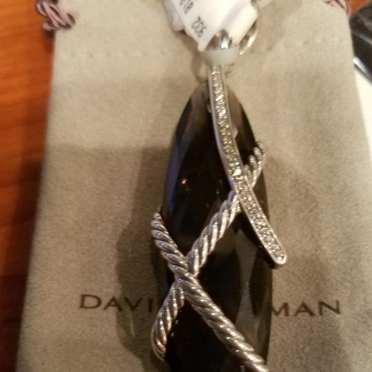 David Yurman David Yurman Smoky Quartz Diamond XL Cable Wrap pendant Image 7