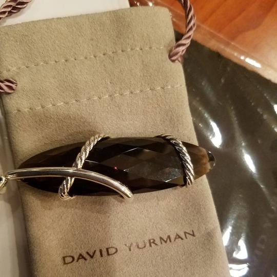 David Yurman David Yurman Smoky Quartz Diamond XL Cable Wrap pendant Image 8