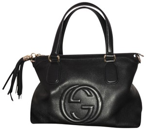 Gucci Leather Soho Satchel in Black