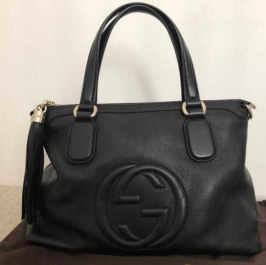 Gucci Leather Soho Satchel in Black Image 1