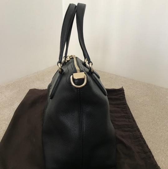 Gucci Leather Soho Satchel in Black Image 5
