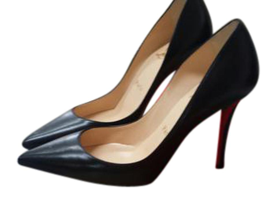Christian Louboutin Black Apostrophy Pumps 100 Nappa Shiny Leather Pumps Apostrophy 086f26