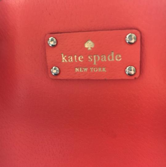 Kate Spade Leather Tote Satchel in Lipstick Orange Image 1