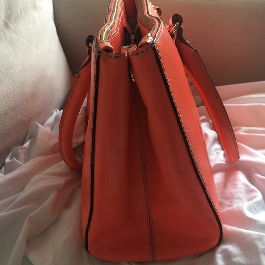 Kate Spade Leather Tote Satchel in Lipstick Orange Image 2
