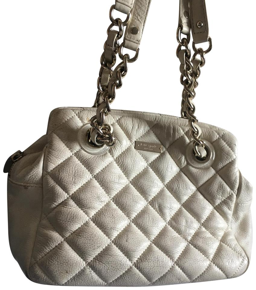 Kate Spade Quilted Chain Hand Whitegold Leather Hobo Bag Tradesy