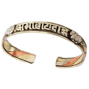 The Tibet Collection Copper and Brass Cuff Bracelet: Healing Chant