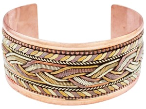 The Tibet Collection Copper and Brass Bracelet: Healing Cuff