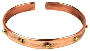 Brass Images Riveting Copper and Brass Bangle