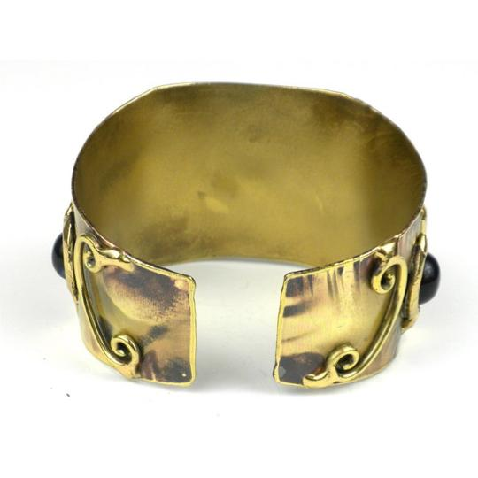 Brass Images X Squared Deep Blue Tiger Eye Cuff Image 1