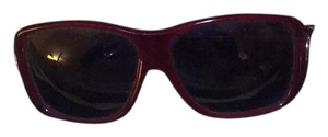 Burberry square acetate plastic red frame Burberry sunglasses