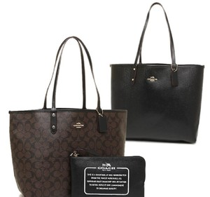 Coach Travel Oversized Large Multifunction Monogram Tote in Signature Black Brown