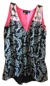 Elizabeth and James Sleeveless Top Print with Sequins