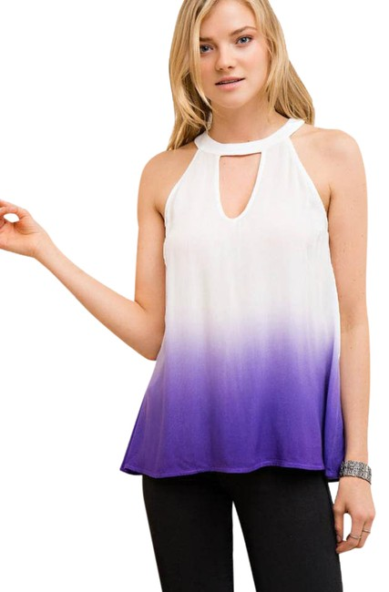 Preload https://img-static.tradesy.com/item/21952615/entro-purple-ombre-halter-with-button-down-back-blouse-size-8-m-0-1-650-650.jpg