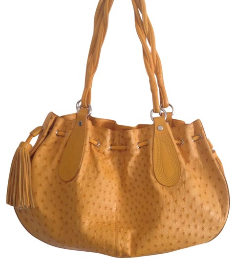 Preload https://img-static.tradesy.com/item/21952764/nina-buttercup-ostrich-leather-tote-0-1-540-540.jpg