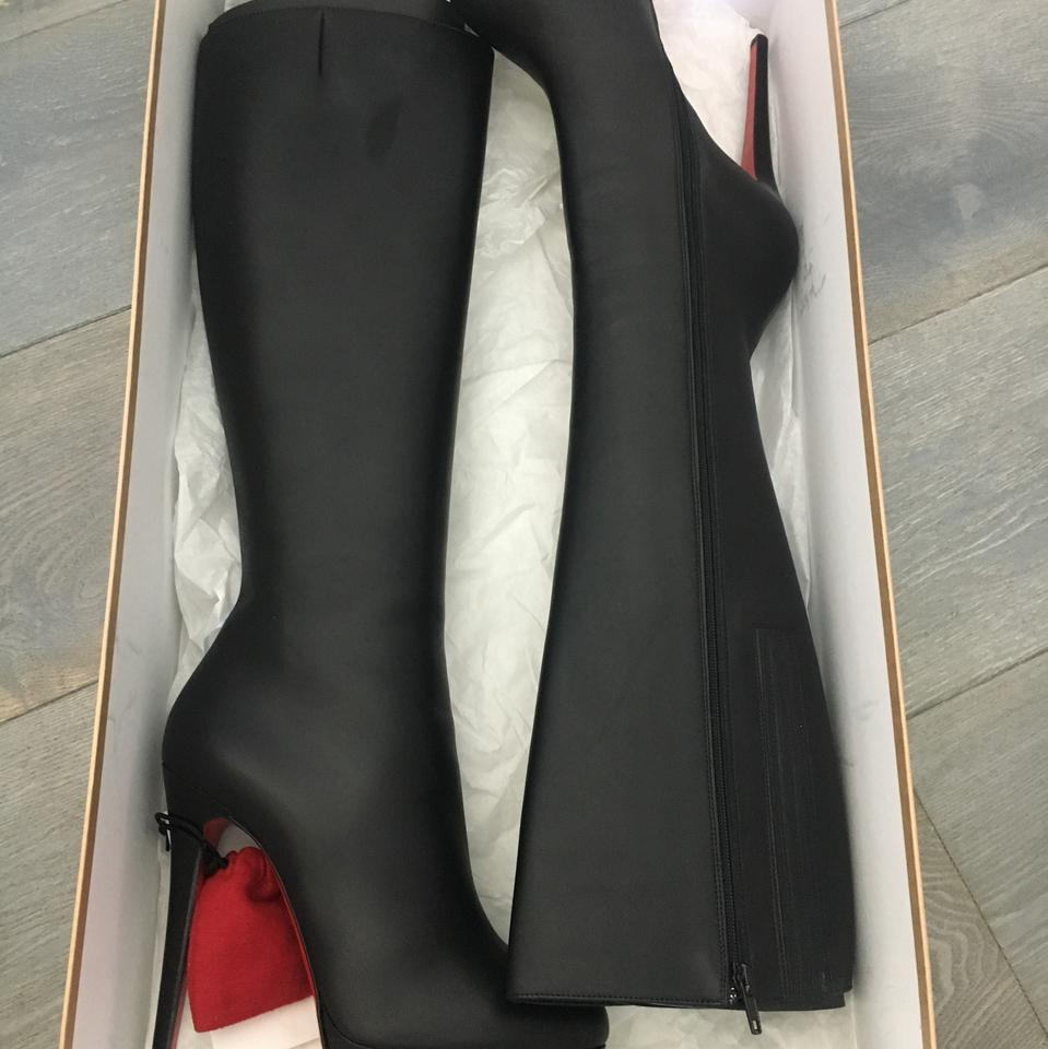 987cbe93828 Christian Louboutin Black Bianca Botta Boots Booties Size US 9 ...