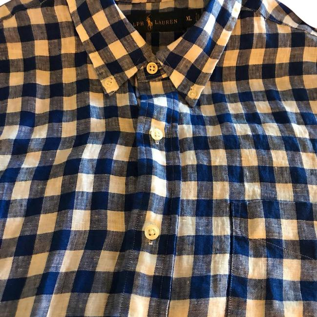 Preload https://img-static.tradesy.com/item/21952839/polo-ralph-lauren-bluewhite-blue-gingham-check-shirt-men-s-button-down-top-size-16-xl-plus-0x-0-1-650-650.jpg