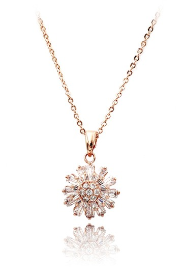 Preload https://img-static.tradesy.com/item/21952843/rose-gold-brilliant-little-sun-crystal-necklace-0-0-540-540.jpg