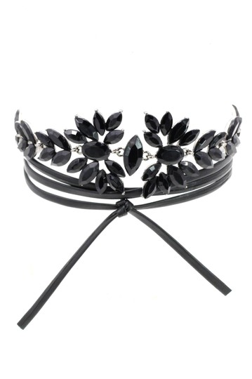 Preload https://img-static.tradesy.com/item/21952867/black-luxury-crystal-flower-leather-choker-necklace-0-0-540-540.jpg