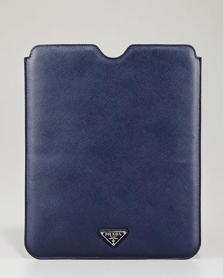 4532d0df776a79 Prada Blue New Ipad Case Tablet Sleeve Saffiano Leather Made In Italy Tech  Accessory