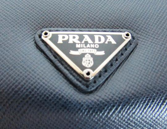 Prada NEW! iPad Case Tablet Sleeve Saffiano Leather Blue Made in Italy Image 1