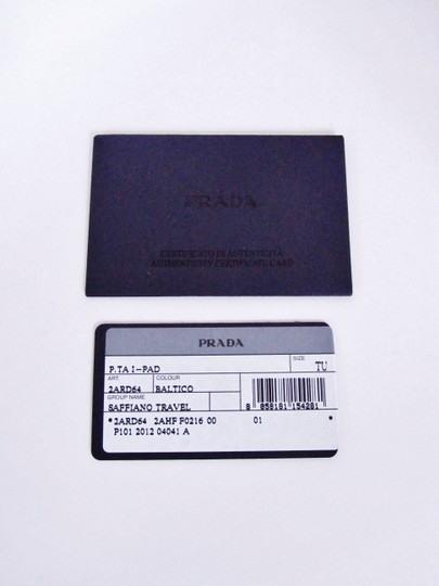 Prada NEW! iPad Case Tablet Sleeve Saffiano Leather Blue Made in Italy Image 3