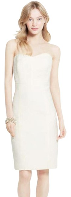 Item - Ivory Textured Strapless Casual Wedding Dress Size 4 (S)