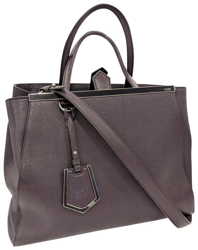 016f7429dc Fendi 2 Jours Medium Purse Leather Tote in Violet Image 0 ...
