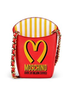 Moschino French Fry Rare Mcdonalds Capsule Shoulder Bag