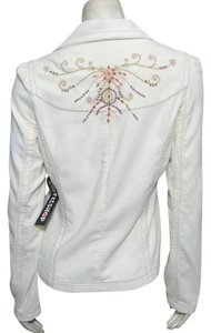Coffee Shop New With Tag Corduroy Blazer 4 6 Bejeweled Beaded Beige Ivory cream Jacket