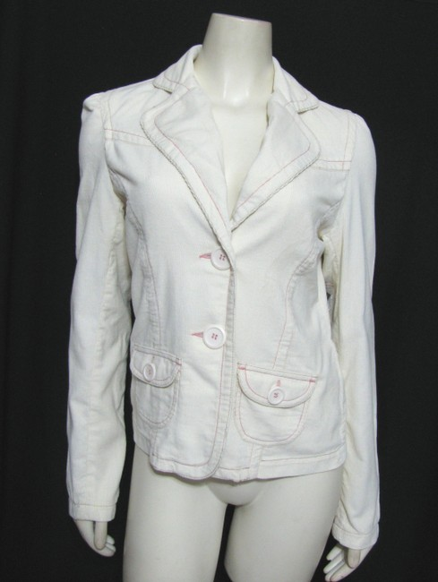 Coffee Shop New With Tag Corduroy Blazer 4 6 Bejeweled Beaded Beige Ivory cream Jacket Image 1