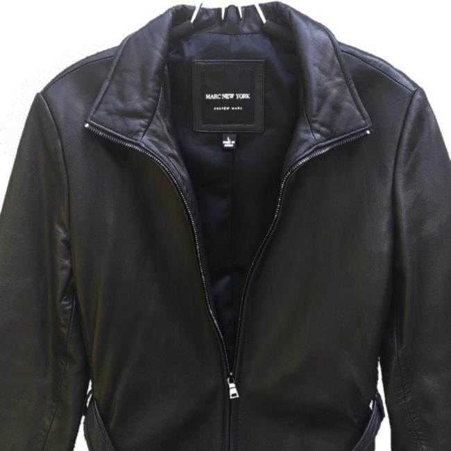 Marc New York Brown Leather Jacket Image 2