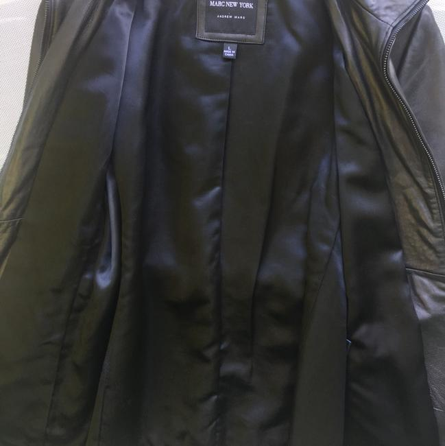 Marc New York Brown Leather Jacket Image 4