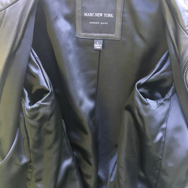 Marc New York Brown Leather Jacket Image 5