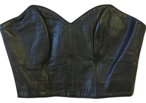 Michael Hoban Corset Top Black Leather