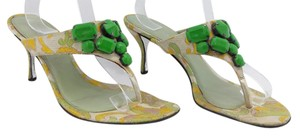 Prada Yellow and Green Mules