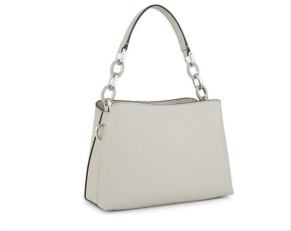 d38efb87a22d Michael Kors Mk Portia Large Saffiano Leather 35s7spal3l Satchel in Pearl  Grey Image 0 ...