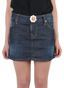 DSquared Mini Skirt Dark Blue