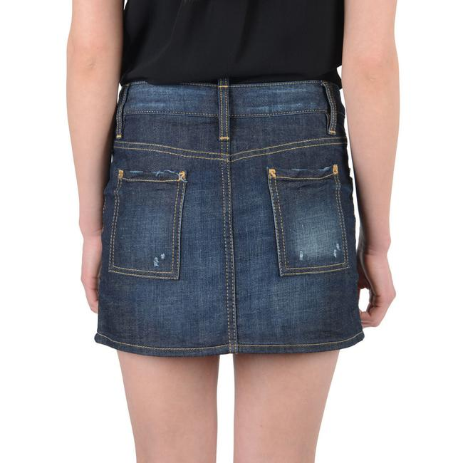 DSquared Mini Skirt Dark Blue Image 1