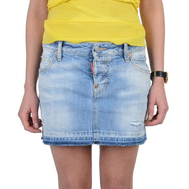 DSquared Mini Skirt Light Blue Image 1