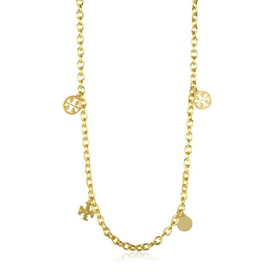 Tory Burch logo charm rosary necklace Image 1