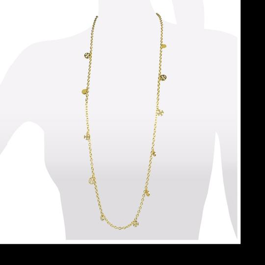 Tory Burch logo charm rosary necklace Image 3
