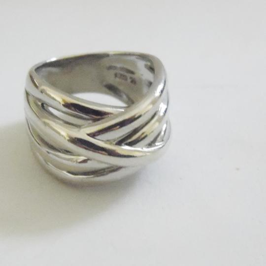 Silver Style Silver Style .925 Sterling Silver High Polish Overlap Band Ring size 7.5