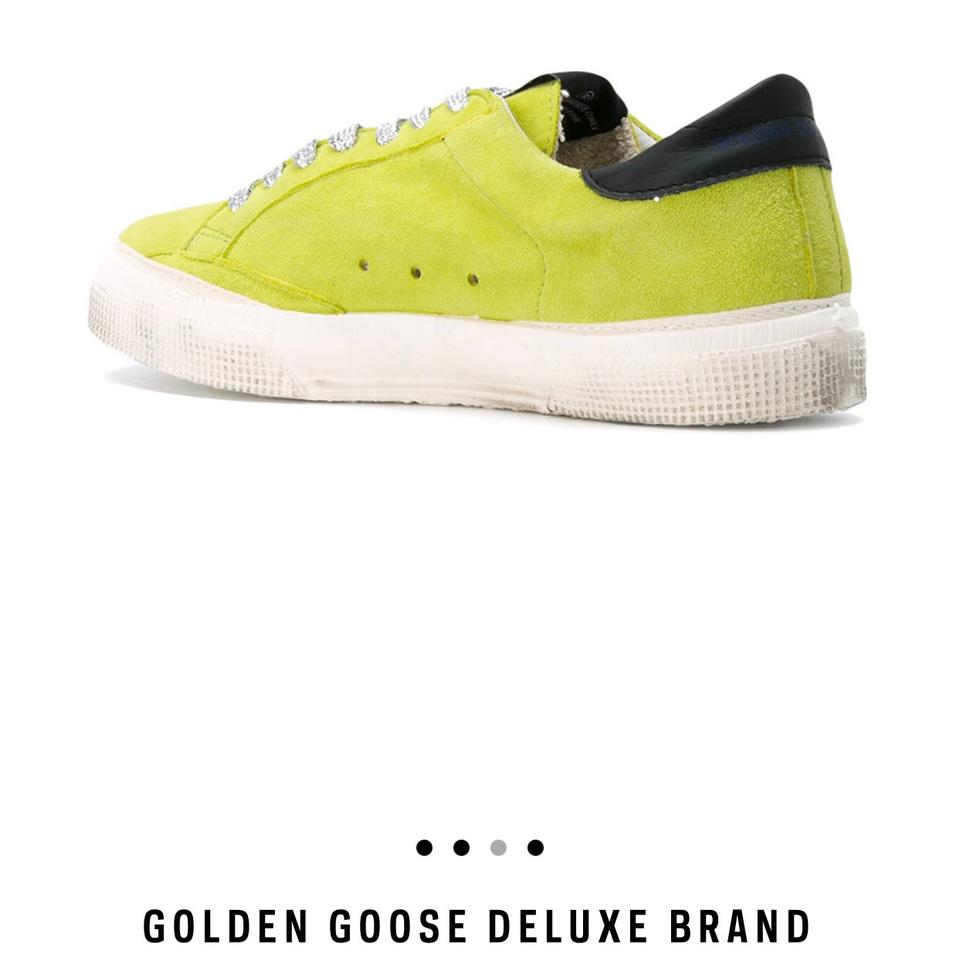b501236a0bb73 Golden Goose Deluxe Brand Neon Green May Sneakers Size US 8 Regular ...