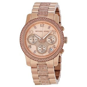 Michael Kors Michael Kors Rose Gold-Tone Glitz Runway Midsized Watch