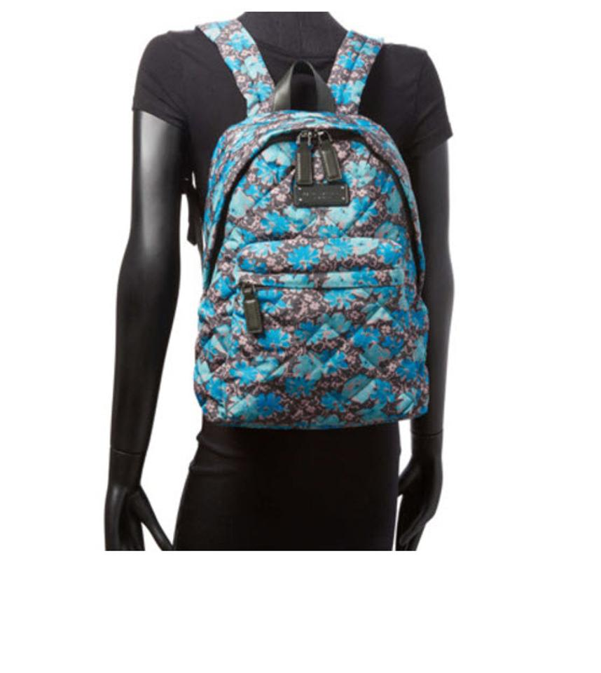 Backpack Jacobs Marc Marc Nylon Floral Quilted Quilted by Wildflowers Gray Blue aUcnqf1